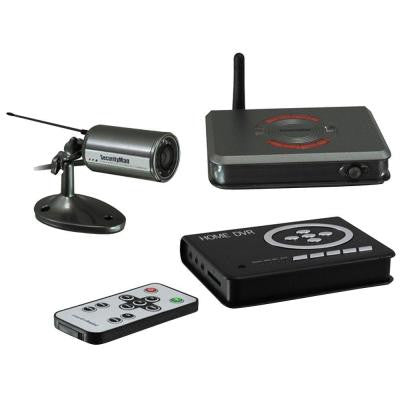 2 CH (1) Wireless Indoor/Outdoor Camera System Kit with Audio Night Vision and SD Recording