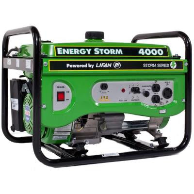 Energy Storm 4,000-Watt 211 cc Gasoline Powered Portable Generator with Voltage Selector Switch
