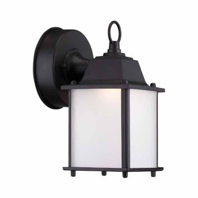 Satin Bronze Outdoor LED Wall Lantern