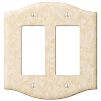 Steel 2 Decora Wall Plate - Honey
