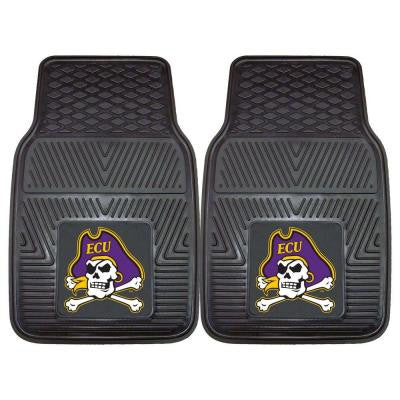 NCAA East Carolina University Heavy Duty 2-Piece 18 in. x 27 in. Vinyl Car Mat