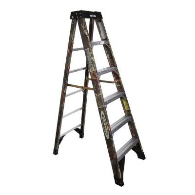 6 ft. Camo Fiberglass Step Ladder with 300 lb. Load Capacity Type IA Duty Rating