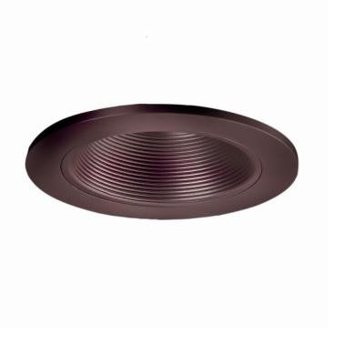 3 in. Tuscan Bronze Recessed Lighting Adjustable Baffle Trim