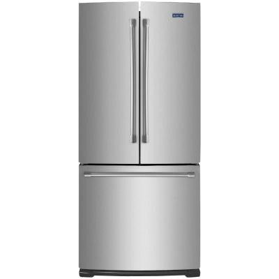 30 in. W 19.7 cu. ft. French Door Refrigerator in Stainless Steel