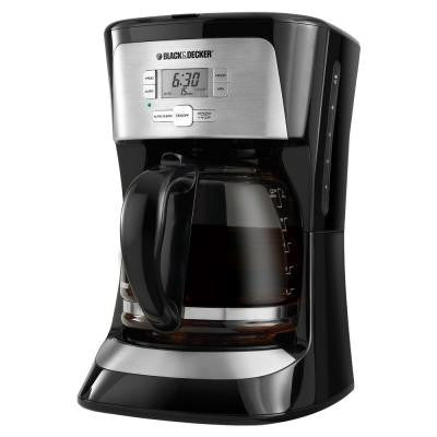 12-Cup Programmable Coffee in Stainless Steel/Black