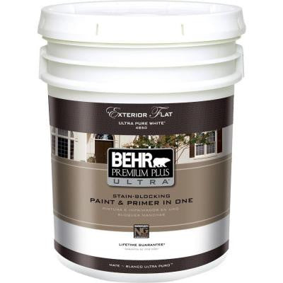 5-gal. Ultra Pure White Flat Exterior Paint