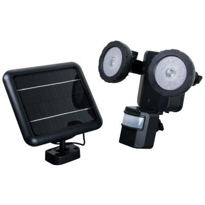 600 Lumen 160 Degree Outdoor Motion Activated Solar Powered Black LED Security Light