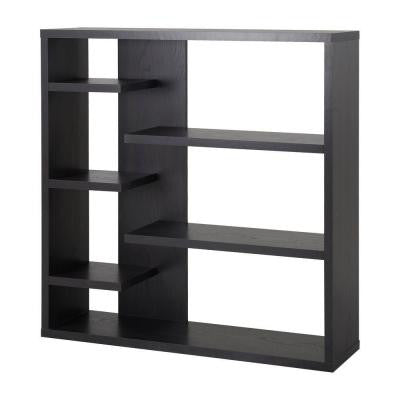 6-Shelf Decorative Storage Bookcase in Espresso