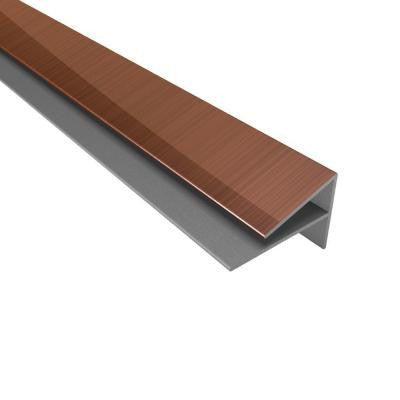 4 ft. Large Profile Outside Corner Trim in Polished Copper