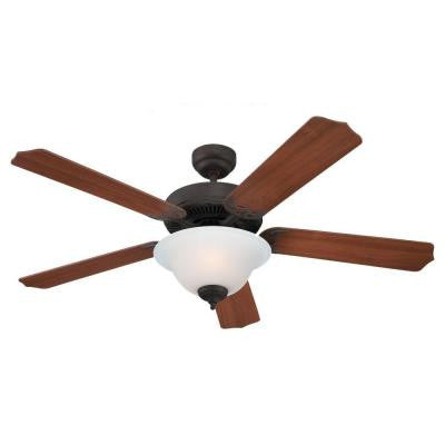 Quality Max Plus 52 in. Misted Bronze Indoor Ceiling Fan