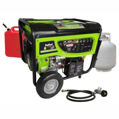 6500/7500-Watt Dual Fuel Generator with Electric Start and Battery