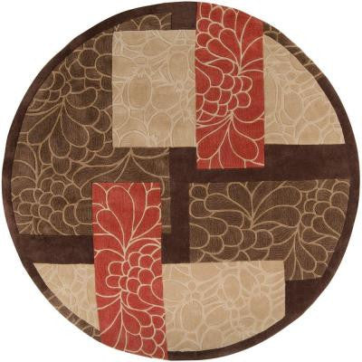 Gela Brown 8 ft. Round Area Rug