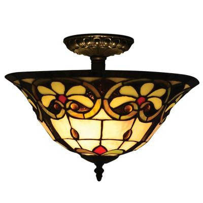 Reservoir 2-Light Tiffany Bronze Semi Flush Mount