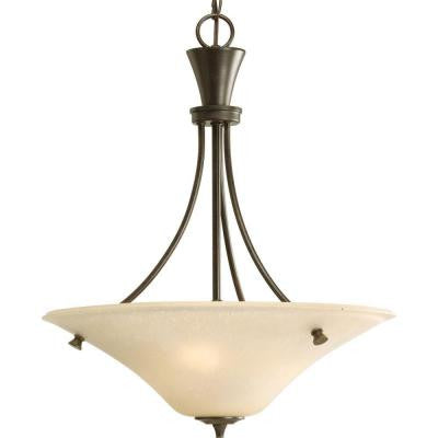 Cantata Collection 3-Light Forged Bronze Foyer Pendant