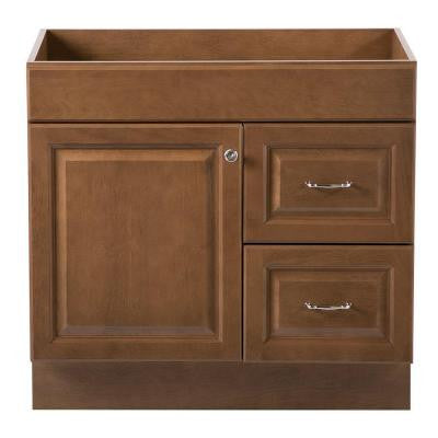 Dowsby 36 in. Vanity Cabinet Only in Toffee