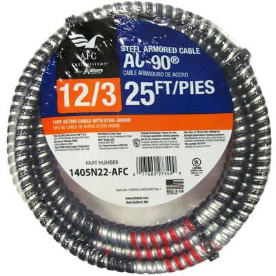 25 ft. 12/3 BX/AC-90 Armored Electrical Cable