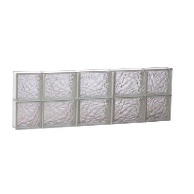 34.75 in. x 11.5 in. x 3.125 in. Ice Pattern Non-Vented Glass Block Window