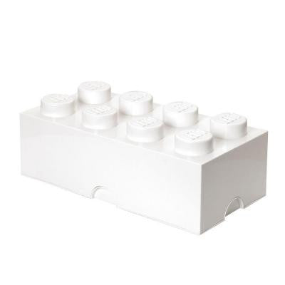 Storage Brick 8 - 9.84 in. D x 19.76 in. W x 7.12 in. H Stackable Polypropylene in White
