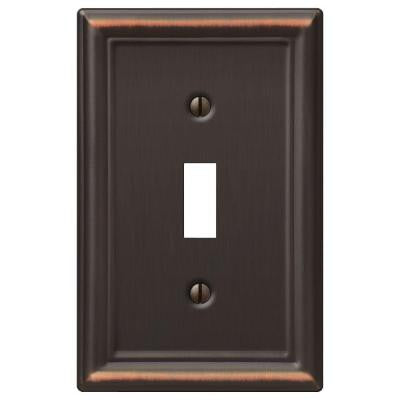 Chelsea 1 Toggle Wall Plate - Aged Bronze