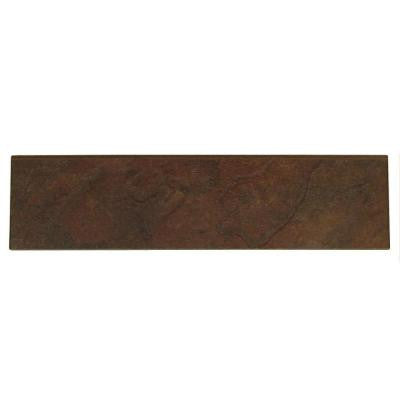 Continental Slate Indian Red 3 in. x 12 in. Porcelain Bullnose Floor and Wall Tile