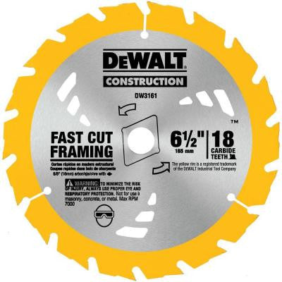 Construction 6-1/2 in. 18-Teeth Thin Kerf Saw Blade