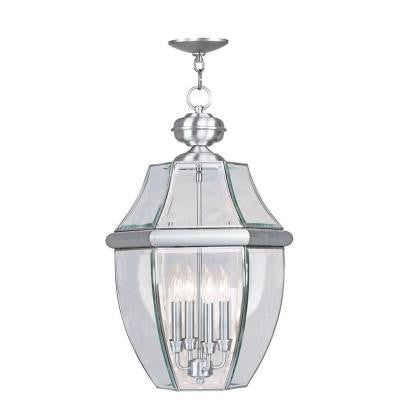 Providence 4-Light Outdoor Brushed Nickel Incandescent Pendant