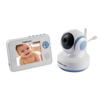 Wireless Indoor Dome Shaped Digital Video Baby Monitor with Pan/Tilt - White