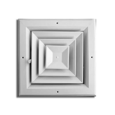 8 in. x 8 in. 4 Way Square Ceiling Diffuser