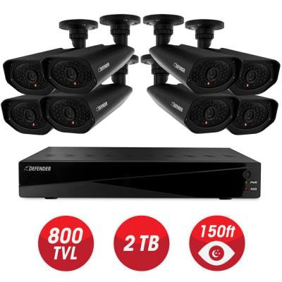 Connected Pro 8-Channel 960H 2TB Surveillance System with (8) Wired 800 TVL Camera