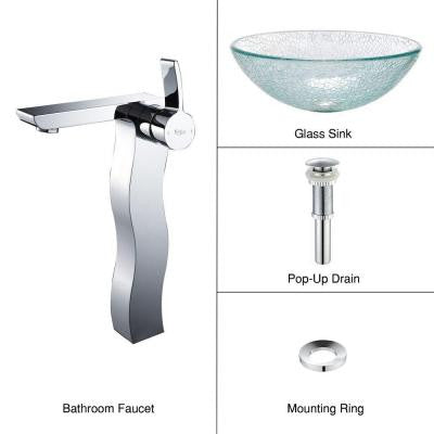 Vessel Sink in Broken with Sonus Faucet in Chrome
