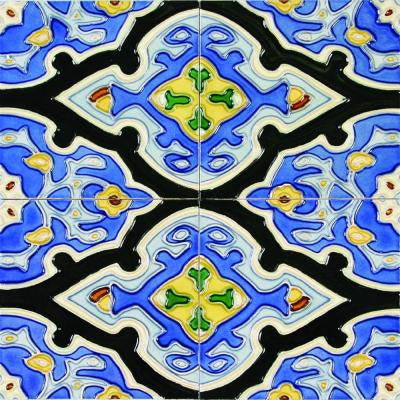 Hand-Painted Vereda Deco 6 in. x 6 in. x 6.35 mm Ceramic Wall Tile (2.5 sq. ft. / case)