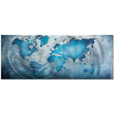 Brevium 19 in. x 48 in. Land and Sea Metal Wall Art