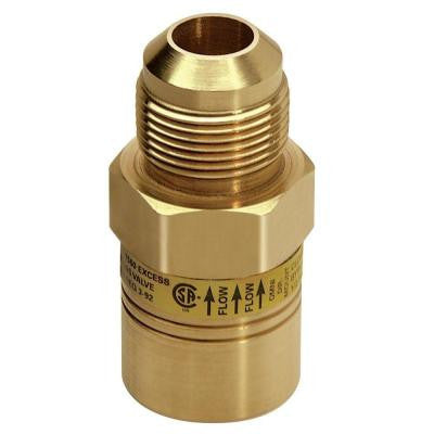 5/8 in. OD Flare (15/16-16 Thrd) x 5/8 in. Female Flare (15/16-16 Thrd) Safety+PLUS Excess Flow Valve (135,000 BTU Max)