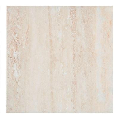 Travertino Ceramic Floor and Wall Tile - 13-1/2 in. x 13-1/2 in. Tile Sample