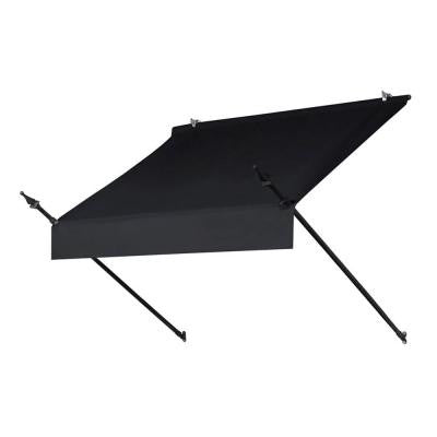 4 ft. Designer Manually Retractable Awning (Projection 36.5 in.) in Ebony