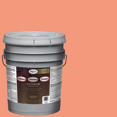 5-gal. #HDGO02 Tropical Coral Satin Latex Exterior Paint