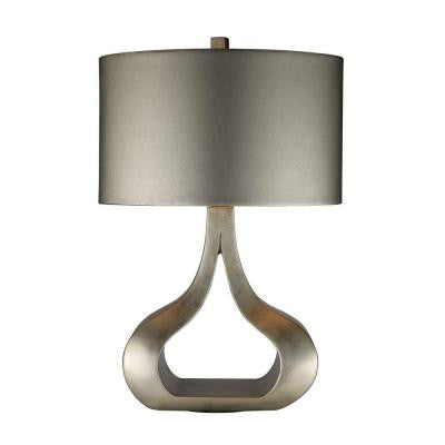 Carolina 26 in. Silver Leaf Table Lamp with Shade