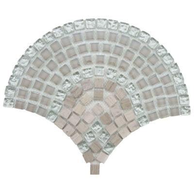 Tessera Arch Salton 9-3/4 in. x 11-3/4 in. x 8 mm Glass and Stone Mosaic Wall Tile