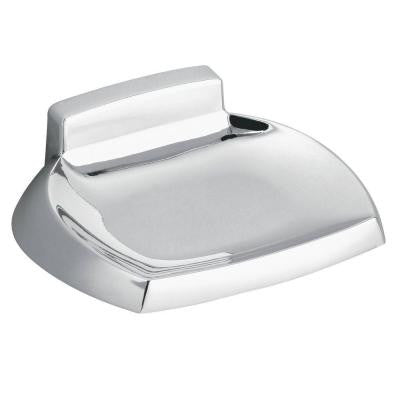 Contemporary Wall-Mounted Soap Dish in Chrome