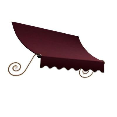 20 ft. Charleston Window Awning (56 in. H x 36 in. D) in Burgundy
