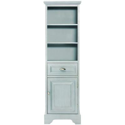 Sadie 20 in. W x 14 in. D x 65 in. H 3-Shelve Linen Cabinet in Antique Blue