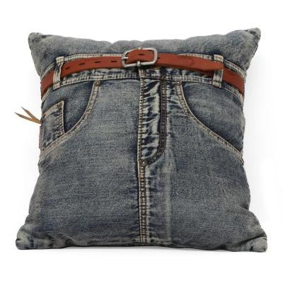 Jean Blue Denim with Front Jean Pillow