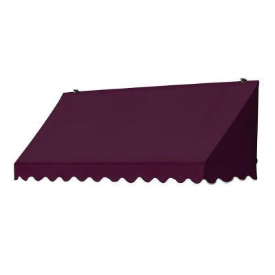 4 ft. Traditional Awning (25 in. Projection) in Burgundy