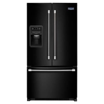 33 in. W 22 cu. ft. French Door Refrigerator in Black