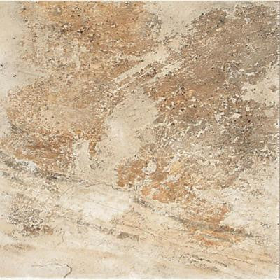 Folkstone Sandy Beach 18 in. x 18 in. Beige Porcelain Floor and Wall Tile (18 sq. ft. / case)