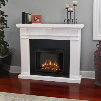 Porter 50 in. Electric Fireplace in White