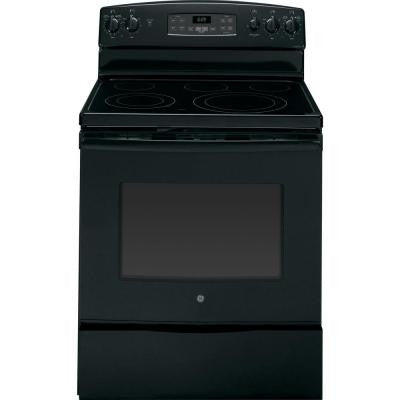 5.3 cu. ft. Electric Range with Self-Cleaning Oven and Convection in Black