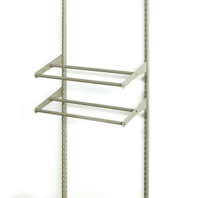 ShelfTrack 24 in. - 42 in. Expandable Shoe Shelf Kit - Nickel