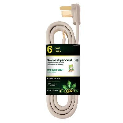 6 ft. 6/1 3-Wire Dryer Cord