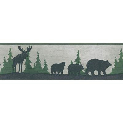 6.75 in. Mountain Animal Silhouettes Border
